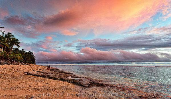 Coucher de soleil aux Îles Cook