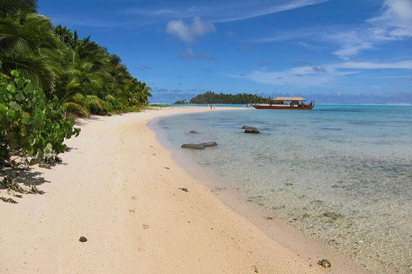 Plage paradisiaque des Îles Cook