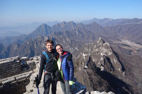 Audrey & Mathieu sur la Grande Muraille de Chine