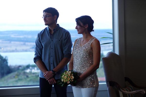 Audrey & Mathieu lors de leur mariage improvisé en Nouvelle-Zélande