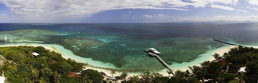 Vue depuis le sommet du phare, îlot d'Amédée