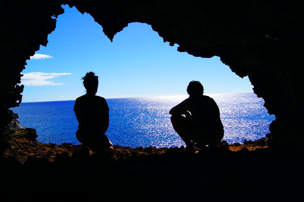 Camille et Allan sur l'Île de Pâques