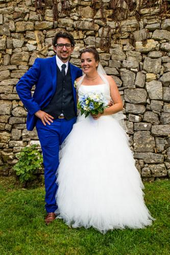 Allan et Camille lors de leur mariage