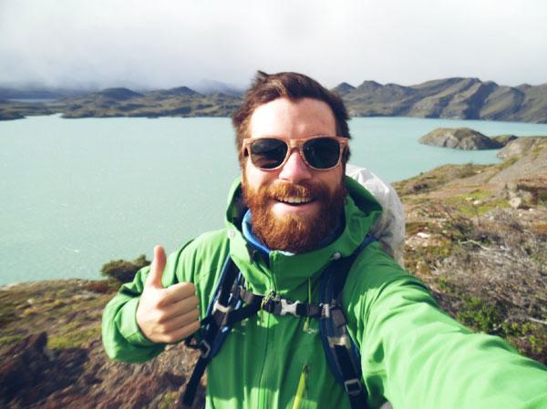 Alan lors du Trek W dans le Torres del Paine, Chili