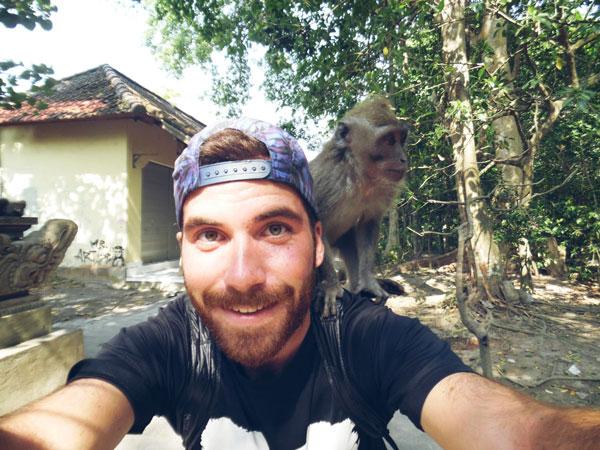 Alan à Bali, Indonésie