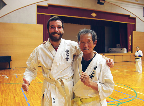 Initiation au karaté au Japon