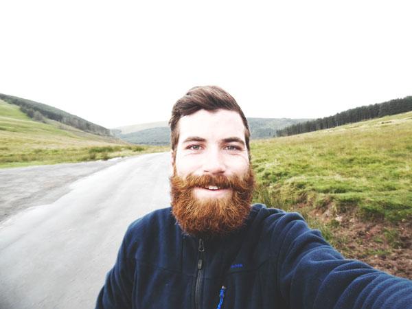 Alan pendant son fameux 275 km au Pays de Galles