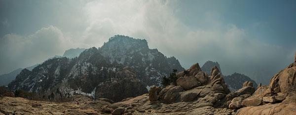 Paysage du Parc national Seoraksan, Corée du Sud