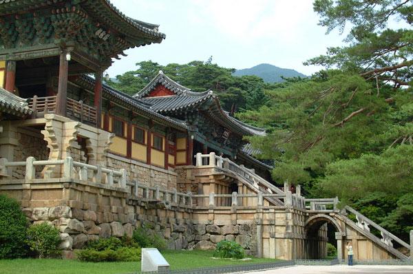 Temple Bulguk, dans la jolie ville de Gyeongju, Corée du Sud
