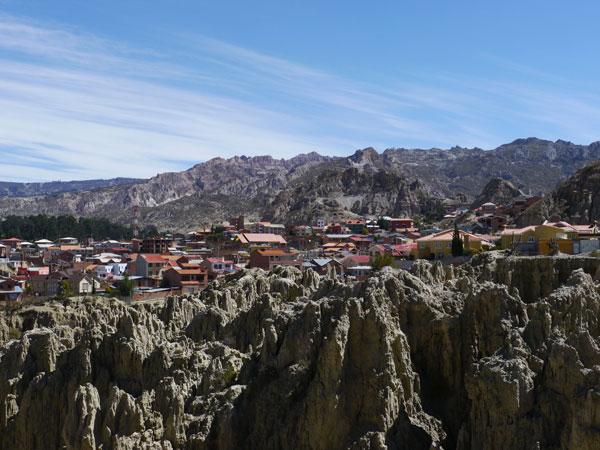 La Zona Sur et la Valle de La Luna, La Paz