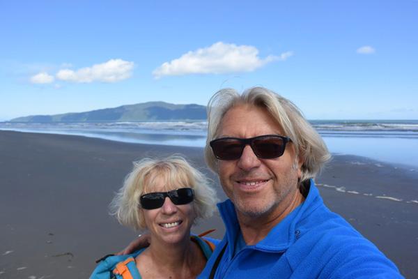 Catherine et Philippe en Nouvelle-Zélande