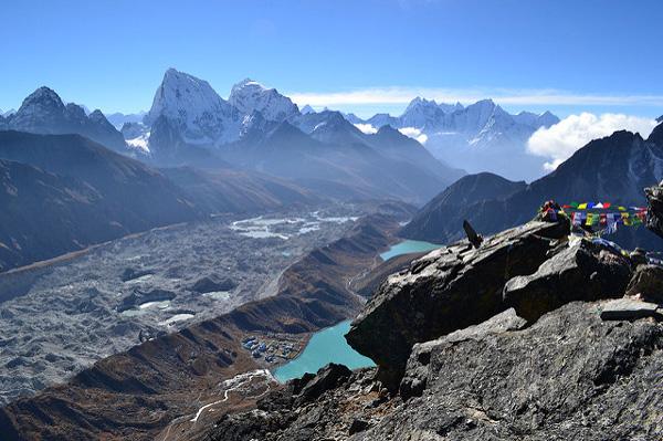 Vue de la Vallée de Gokyo, Népal