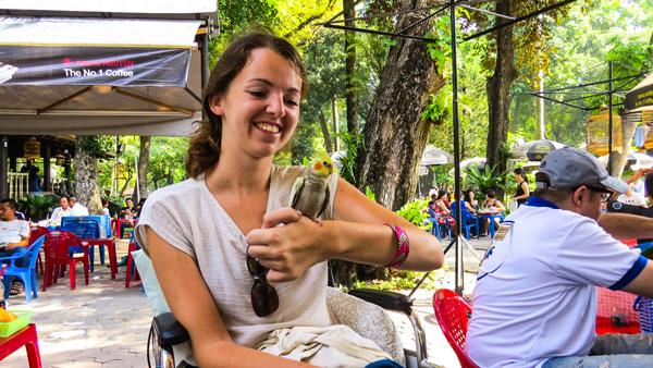 Audrey lors de son voyage au Vietnam en 2015