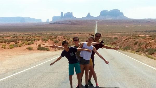 À Monument Valley, dans l'Ouest américain