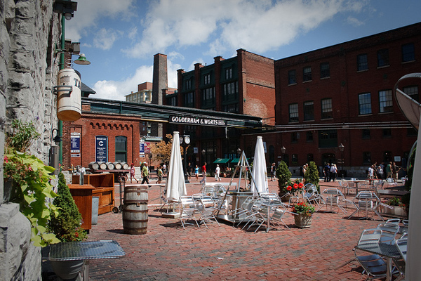 Le quartier de Distillery District, Toronto