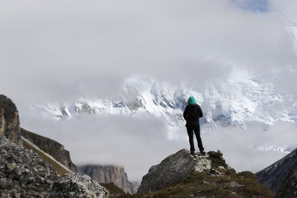 Lever de rideau sur le Kanchenjunga - Népal