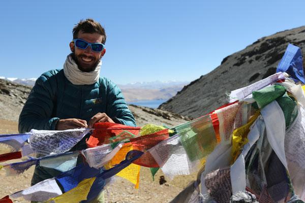 Franchissement d'un col à 5400 m au Ladakh, Inde