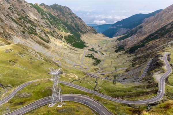 La route Transfagarasan, Roumanie