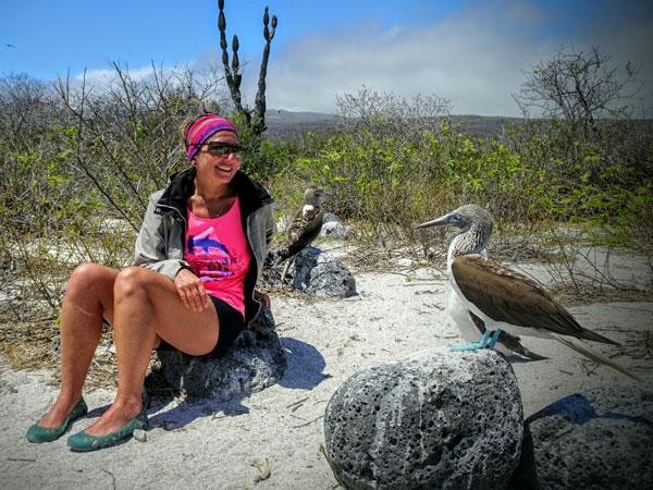 Lisa aux Galapagos