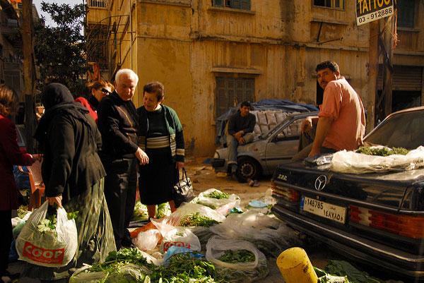 Marché à Beyrouth, Liban