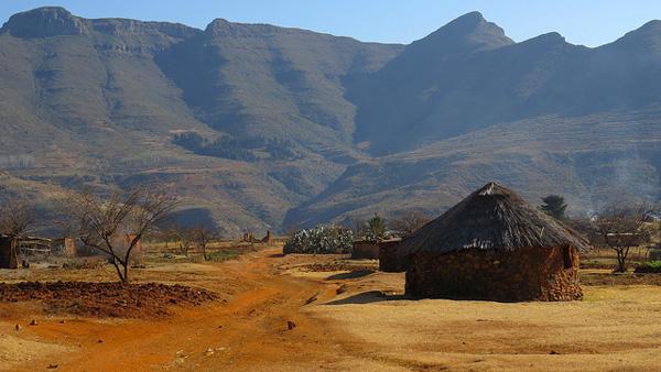 Le village de Malealea, au Lesotho