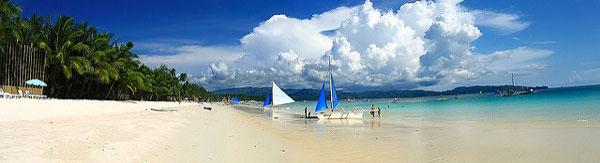 La White Beach de Boracay, Philippines