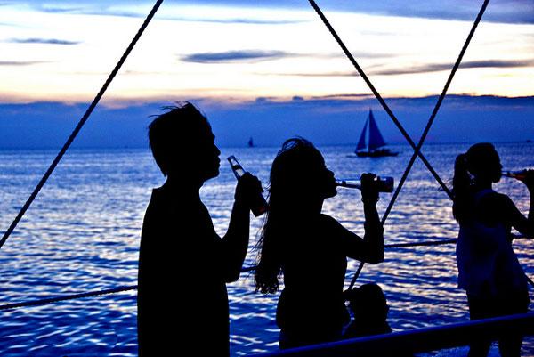 Fête sur l'île de Boracay, Philippines