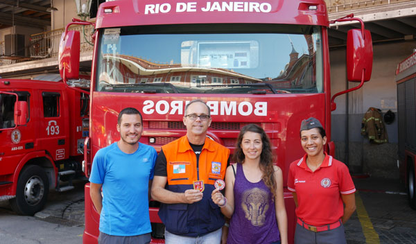 Le tour du monde des casernes de pompiers d'Anne et Yoni : à Rio de Janeiro, au Brésil