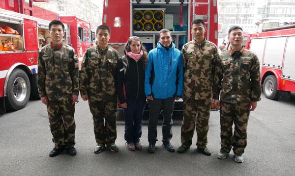 Le tour du monde des casernes de pompiers d'Anne et Yoni : en Chine
