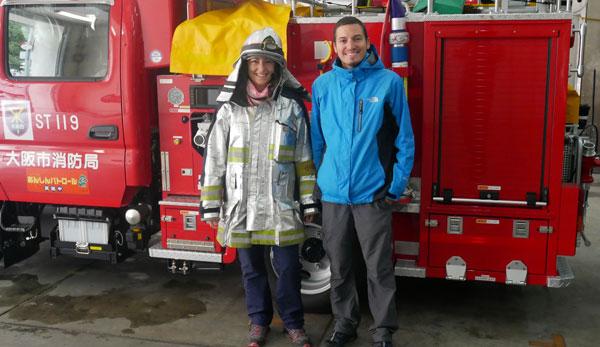 Le tour du monde des casernes de pompiers d'Anne et Yoni : au Japon