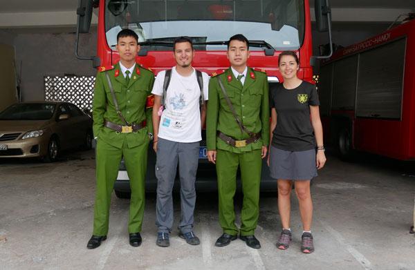 Le tour du monde des casernes de pompiers d'Anne et Yoni : au Vietnam