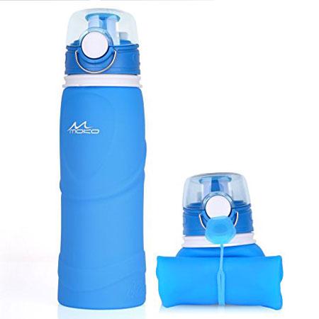 Idées de cadeaux de Noël pour voyageurs : La bouteille d'eau pliable
