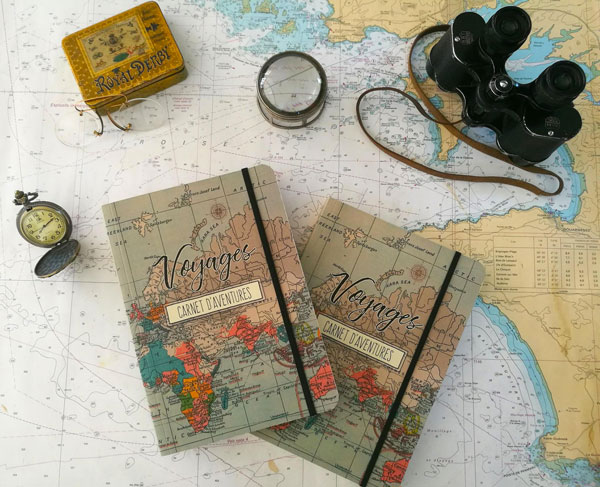 Idées de cadeaux de Noël pour voyageurs : Le carnet d'aventures