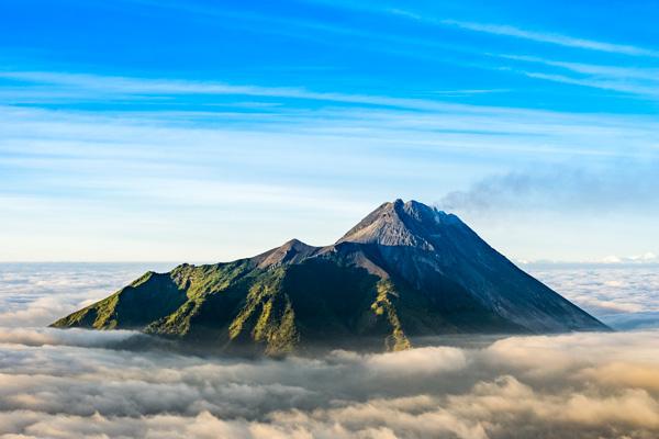 Le Mont Merapi (Java)