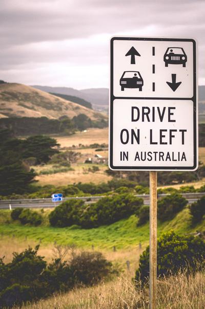 Road trip en Australie : la conduite à gauche