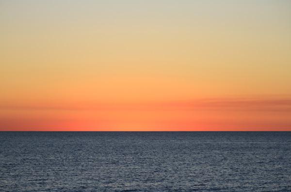Road trip en Australie : coucher de soleil sur la côte ouest