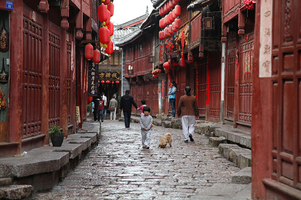 Les belles ruelles de Lijiang, Yunnan, Chine